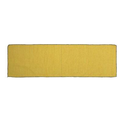 One-of-a-Kind Alonzo Hand-woven Cotton Yellow Area Rug