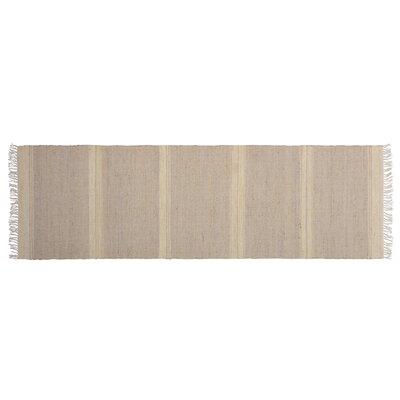 One-of-a-Kind Aloysia Hand-woven Tan Area Rug