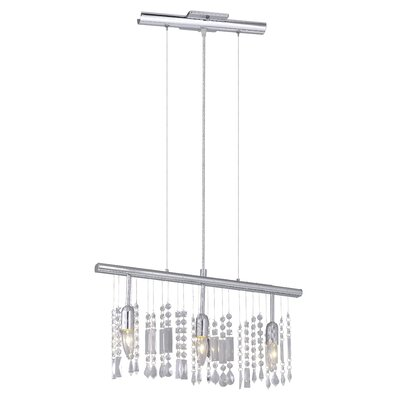 Vitoria 3-Light Crytal Kitchen Island Pendant