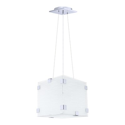 Jaye Striped 1-Light Foyer Pendant