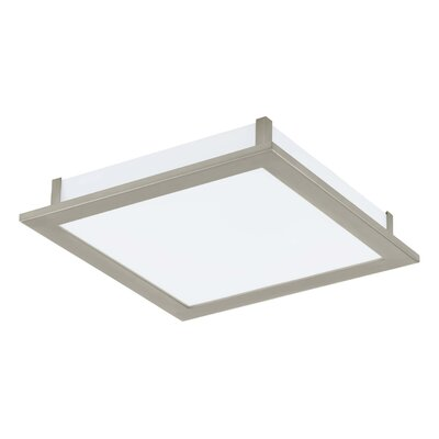 Kortney 1-Light Flush Mount Size: 3.75 H x 15.13 x 15.13 W