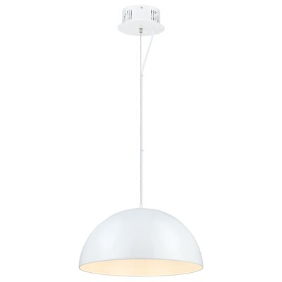 Rawson 1-Light Mini Pendant Finish: Glossy White