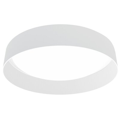 Felicia 1-Light Flush Mount Shade Color: White