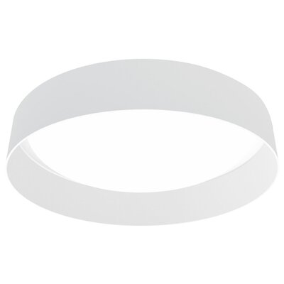 Felicia 1-Light LED Flush Mount Shade Color: White