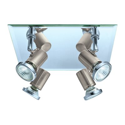 Suzy 4-Light Flush Mount Finish: Matte Nickel/Chrome