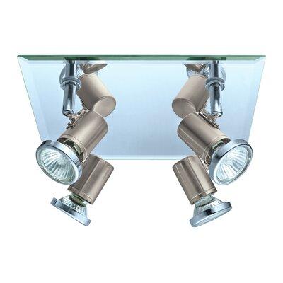 Suzy 4-Light Flush Mount Finish: Matte Nickel/Chrome