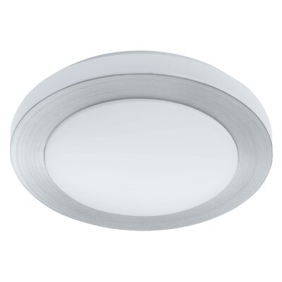 Dennise 1-Light Flush Mount Size: 3.13 H x 11.8 W x 11.8 D