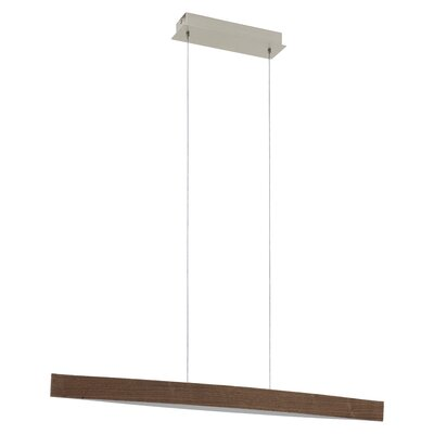 Jennifer 1-Light Kitchen Island Pendant Finish: Walnut