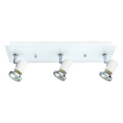 Suzy 3-Light Track Light Finish: White/Chrome