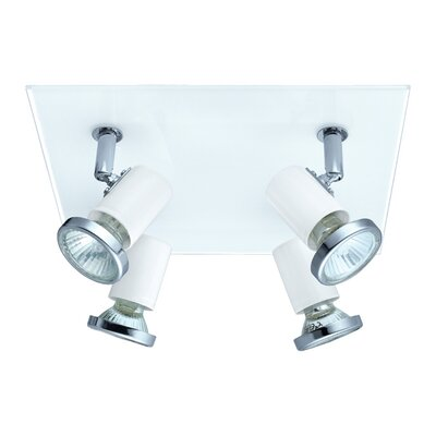 Suzy 4-Light Flush Mount Finish: White/Chrome