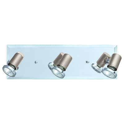 Suzy 3-Light Track Light Finish: Matte Nickel/Chrome