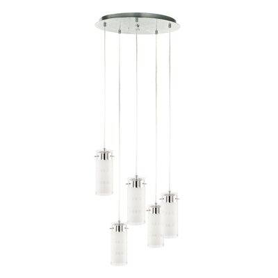 Amberly 5-Light Cascade Pendant Finish: Satin Nickel