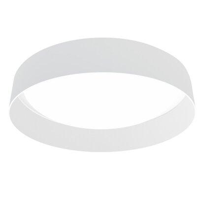 Felicia 1-Light Flush Mount Shade Color: White