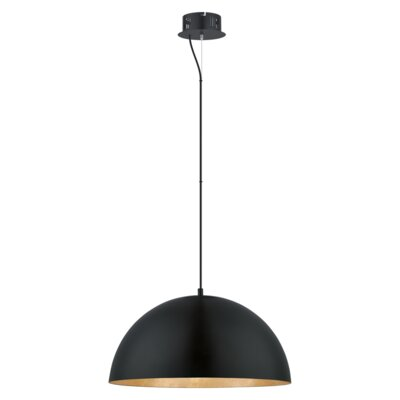 Rawson 1 LED Integrated Bulb Bowl Pendant Size: 72 H x 9.57 W x 9.57 D