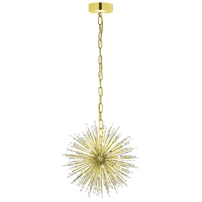 Loftin 18-Light Globe Pendant Finish: Gold