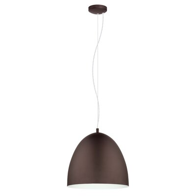 Ware 1-Light Bowl Pendant Size: 72 H x 15.88 W x 15.88 D