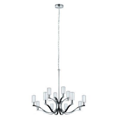 Lindsy 12-Light Shaded Chandelier