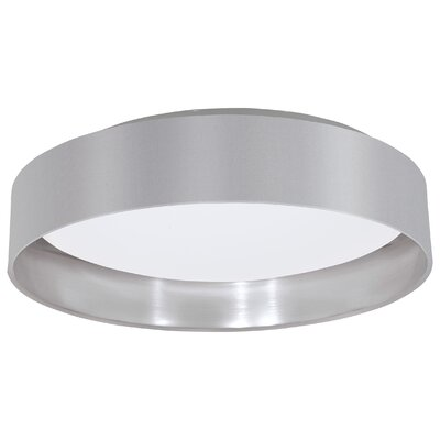 Newville 1-Light Flush Mount Shade Finish: Gray/Silver