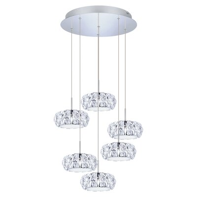 Awilda 6-Light Cascade Pendant
