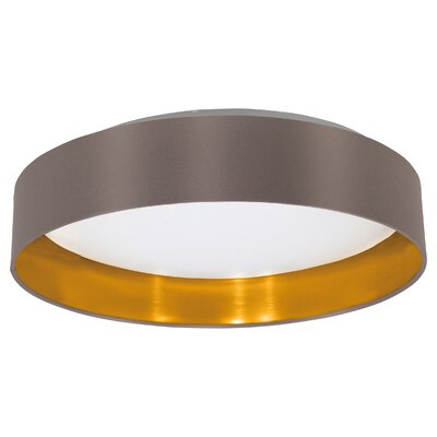 Newville 1-Light Flush Mount Shade Finish: Cappucino/Gold