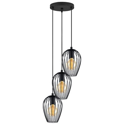 Booker 3-Light Cascade Pendant