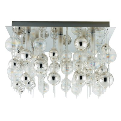 Johansen 9-Light Semi Flush Ceiling Light