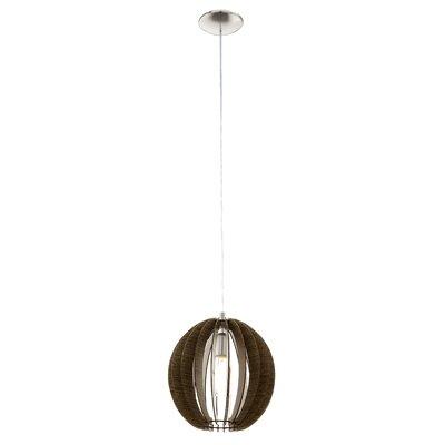 Waltham 1-Light Globe Pendant Size: 72 H X 11.81 W x 11.81 D