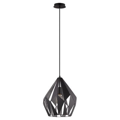San Marino 1-Light Mini Pendant Inner Shade Color: Silver