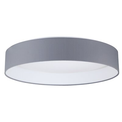 Felicia 1-Light LED Flush Mount Shade Color: Gray