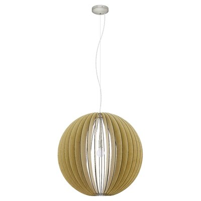 Waltham 1-Light Globe Pendant Size: 72 H X 27.56 W x 27.56 D
