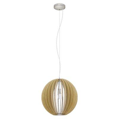Waltham 1-Light Globe Pendant Size: 72 H X 19.63 W x 19.63 D
