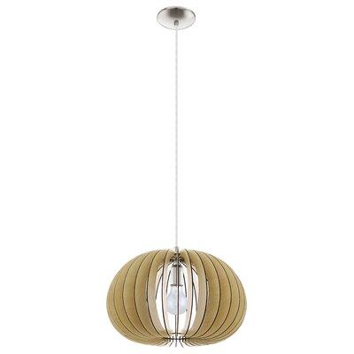 Waltham 1-Light Globe Pendant Size: 72 H X 17.75 W x 17.75 D