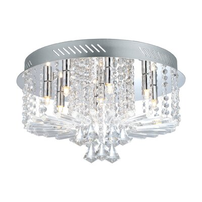 Hudson 9-Light Flush Mount
