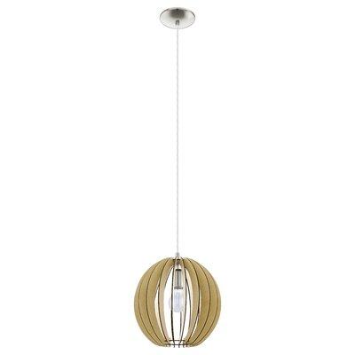 Waltham 1-Light Globe Pendant Size: 72 H X 11.88 W x 11.88 D
