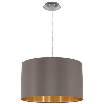 Horton 1-Light Drum Pendant Shade Color: Cappucino/Gold
