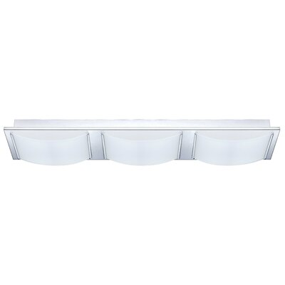 Aleen 3-Light Flush Mount Finish: Chrome