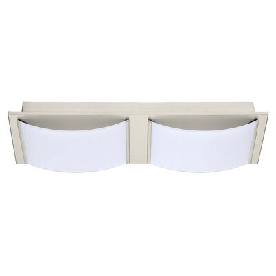 Aleen 2-Light Flush Mount Finish: Matte Nickel
