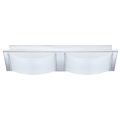 Aleen 2-Light Flush Mount Finish: Chrome
