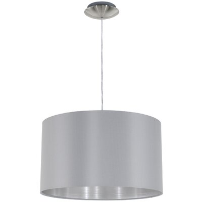 Newville 1-Light Drum Pendant Shade Color: Gray/Silver