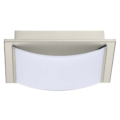 Aleen 1-Light Flush Mount Finish: Matte Nickel