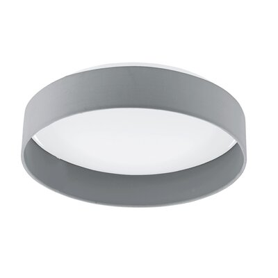 Felicia 1-Light Flush Mount Shade Color: Gray