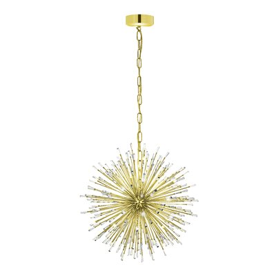 Loftin 21-Light Geometric Pendant Finish: Gold