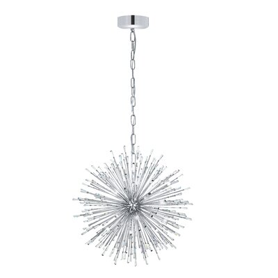 Loftin 21-Light Geometric Pendant Finish: Silver