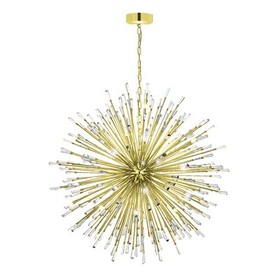 Loftin 50-Light Globe Pendant Finish: Gold