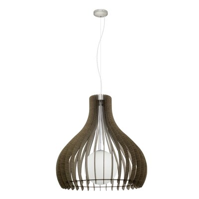 Washington 1-Light Inverted Pendant Size: 72 H x 23.62 W x 23.62 D
