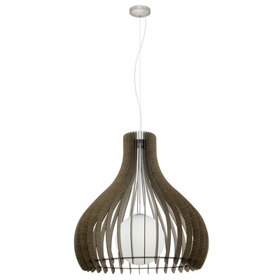 Washington 1-Light Inverted Pendant Size: 72 H x 14.96 W x 14.96 D