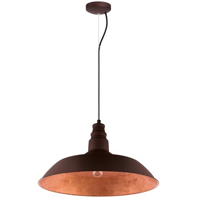 Wagner 1-Light Inverted Pendant