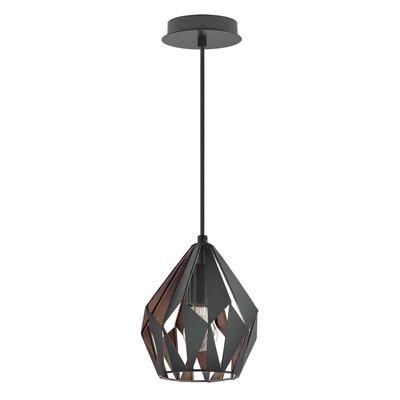 Carmouche 1-Light LED Geometric Pendant Shade Color: Copper