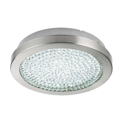 Frey 2 Ceiling 1-Light LED Semi Flush Mount Size: 2.17 H x 11 W x 11 D