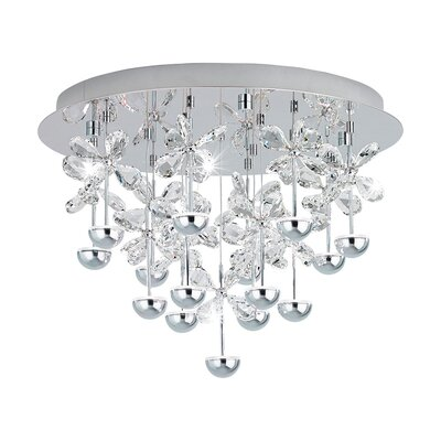 Purcell 15-Light LED Semi Flush Mount